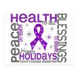 Christmas 4 Crohn's Disease Snowflakes Postcard