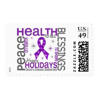 Christmas 4 Crohn's Disease Snowflakes Stamps