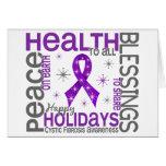 Christmas 4 Cystic Fibrosis Snowflakes Greeting Card