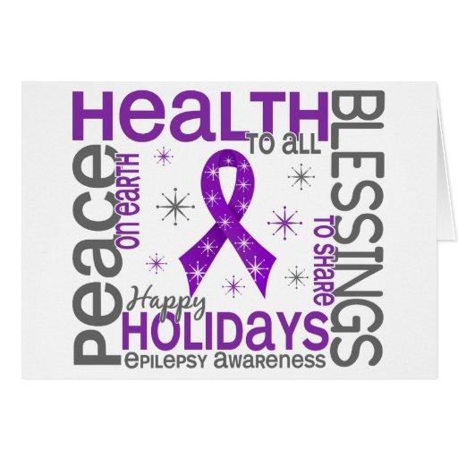 Christmas 4 Epilepsy Snowflakes Greeting Cards
