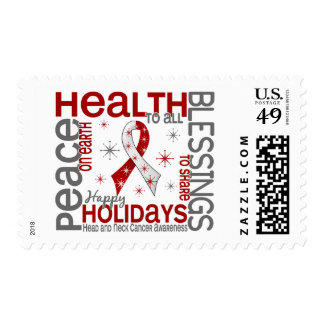 Christmas 4 Head And Neck Cancer Snowflakes Postage Stamp