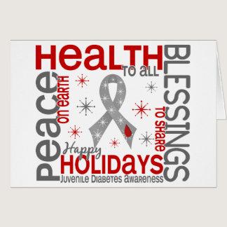 Christmas 4 Juvenile Diabetes Snowflakes Card