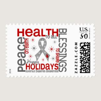Christmas 4 Juvenile Diabetes Snowflakes Postage