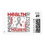 Christmas 4 Juvenile Diabetes Snowflakes Postage Stamps