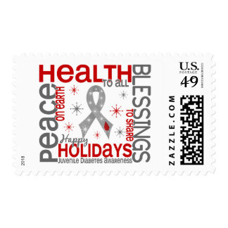 Christmas 4 Juvenile Diabetes Snowflakes Stamp
