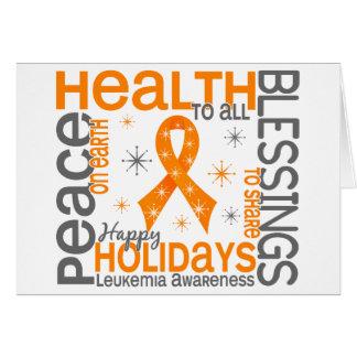 Christmas 4 Leukemia Snowflakes Card