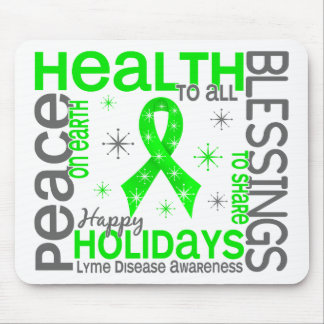 Christmas 4 Lyme Disease Snowflakes Mouse Pad