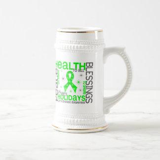 Christmas 4 Lyme Disease Snowflakes 18 Oz Beer Stein
