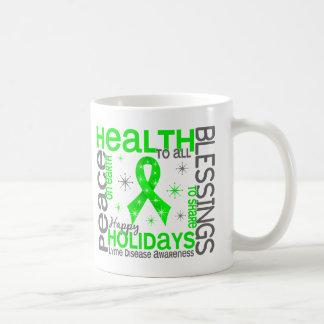 Christmas 4 Lyme Disease Snowflakes Classic White Coffee Mug