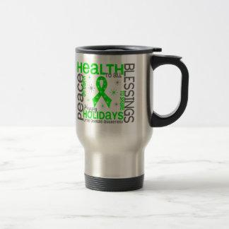 Christmas 4 Lyme Disease Snowflakes 15 Oz Stainless Steel Travel Mug