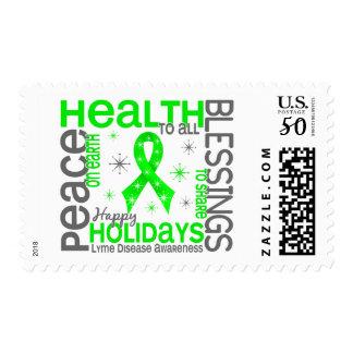 Christmas 4 Lyme Disease Snowflakes Postage
