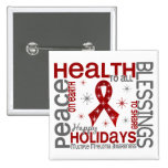 Christmas 4 Multiple Myeloma Snowflakes 2 Inch Square Button