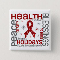 Christmas 4 Multiple Myeloma Snowflakes Button