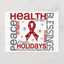 Christmas 4 Multiple Myeloma Snowflakes Holiday Postcard