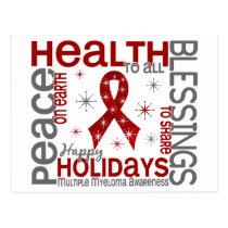Christmas 4 Multiple Myeloma Snowflakes Postcard