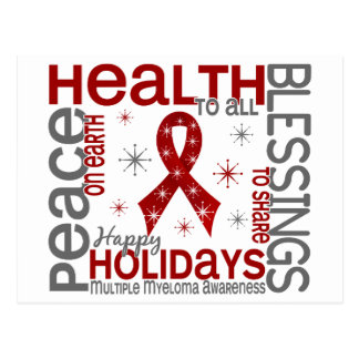 Christmas 4 Multiple Myeloma Snowflakes Post Cards