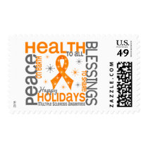 Christmas 4 Multiple Sclerosis Snowflakes Postage