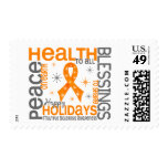 Christmas 4 Multiple Sclerosis Snowflakes Postage Stamp
