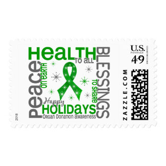 Christmas 4 Organ Donation Snowflakes Postage Stamps