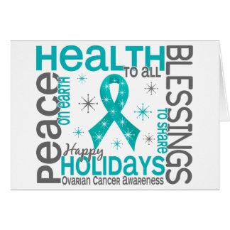 Christmas 4 Ovarian Cancer Snowflakes Card