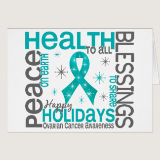 Christmas 4 Ovarian Cancer Snowflakes Card