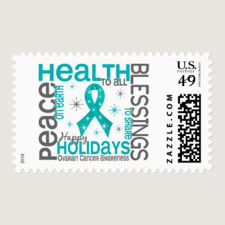 Christmas 4 Ovarian Cancer Snowflakes Postage