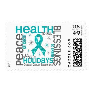 Christmas 4 Ovarian Cancer Snowflakes Stamps