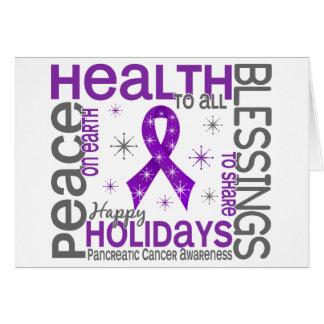 Christmas 4 Pancreatic Cancer Snowflakes Card