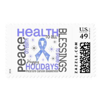 Christmas 4 Prostate Cancer Snowflakes Postage