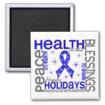 Christmas 4 Rheumatoid Arthritis Snowflakes Refrigerator Magnets