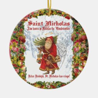 Christmas 4 Saint Nicholas the Wonderworker Ceramic Ornament