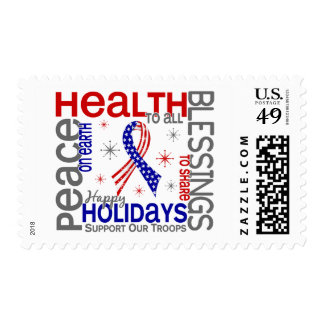 Christmas 4 Support Our Troops Postage Stamp