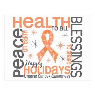 Christmas 4 Uterine Cancer Snowflakes Postcard