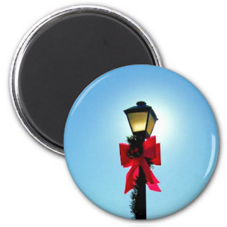 Christmas 56 - HOLIDAY LAMPPOST ~.jpg 2 Inch Round Magnet