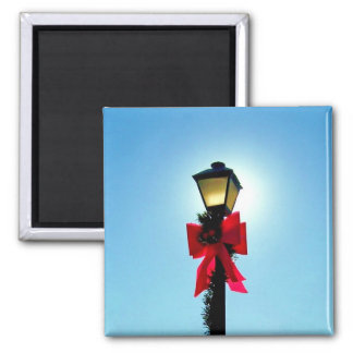 Christmas 56 - HOLIDAY LAMPPOST ~.jpg 2 Inch Square Magnet