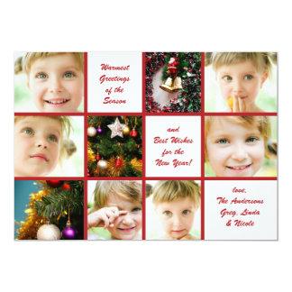 Christmas 9-Photo Graph Holiday Card