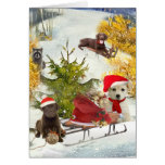 Christmas  A Day Sledding Cards