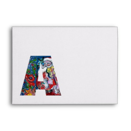 CHRISTMAS A LETTER /SANTA  CLAUS WITH VIOLIN ENVELOPE