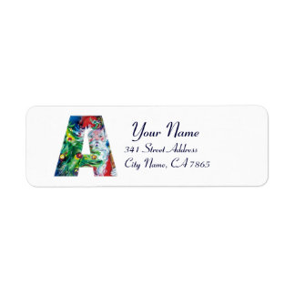 CHRISTMAS A LETTER / SANTA WITH CHRISTMAS TREE LABEL