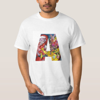 CHRISTMAS A LETTER  / SANTA  WITH GIFTS MONOGRAM T-Shirt