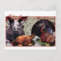Christmas... a time to forgive. holiday postcard
