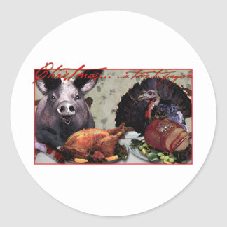 Christmas... a time to forgive. round stickers