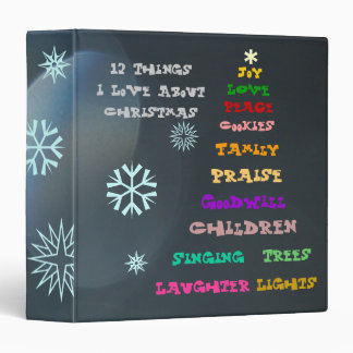 Christmas Abstract Binder