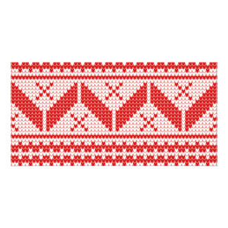 Christmas Abstract Jumper Knit Pattern Card