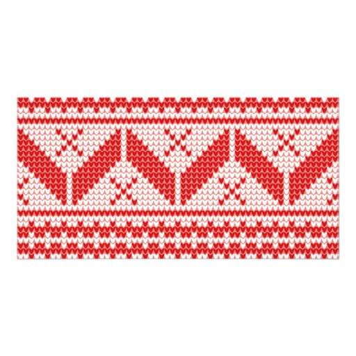 Free Knitting Patterns For Beginners Scarves : Christmas Abstract Jumper Knit Pattern Card Zazzle