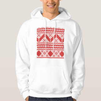 Christmas Abstract Jumper Knit Pattern Hooded Sweatshirt