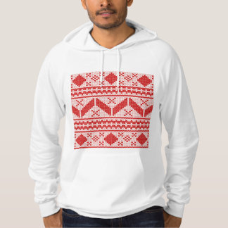 Christmas Abstract Jumper Knit Pattern Hoody