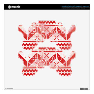 Christmas Abstract Jumper Knit Pattern Skins For PS3 Controllers