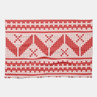 Christmas Abstract Jumper Knit Pattern Towels