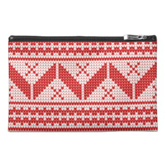 Christmas Abstract Jumper Knit Pattern Travel Accessories Bags